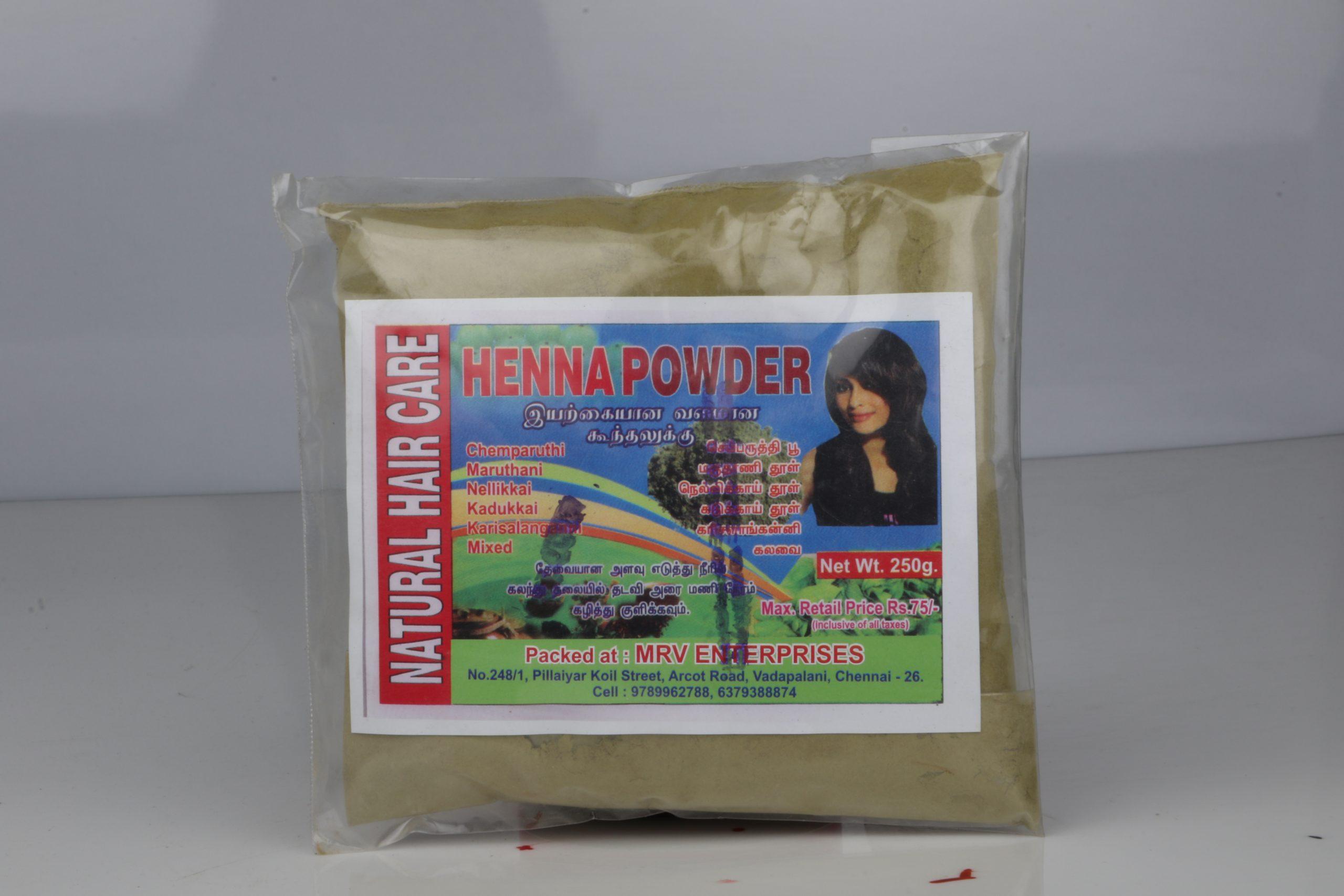 MRV HAIR CARE HENNA POWDER 250GM