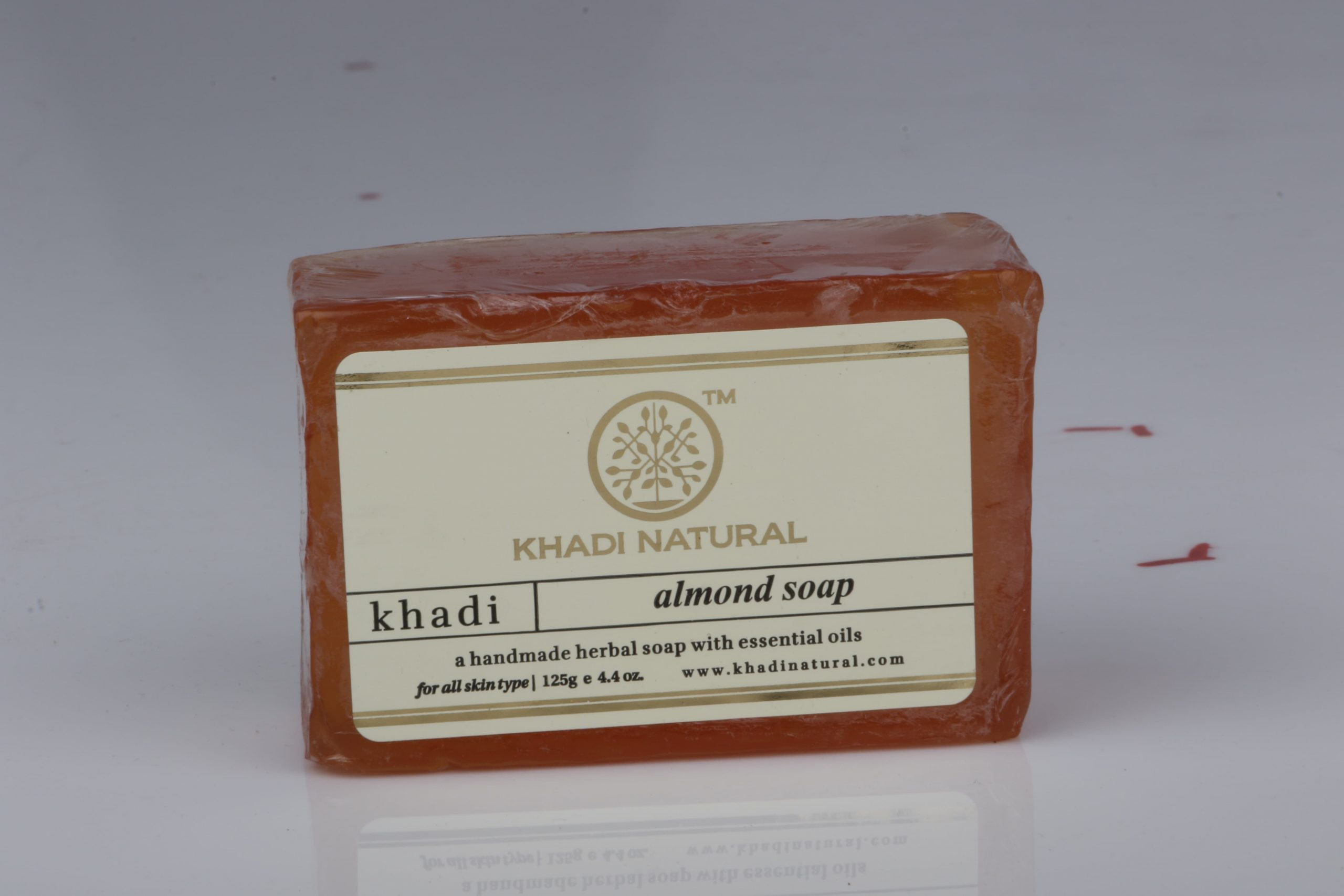 KHADI NATURAL ALMOND SOAP 125GM