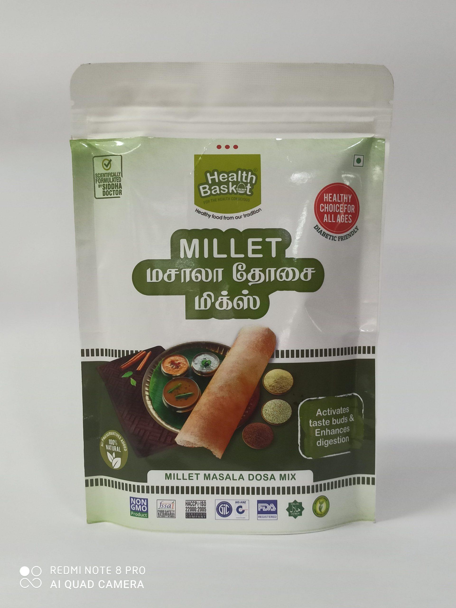 HEALTH BASKET MILLET MASALA DOSA MIX 300GM