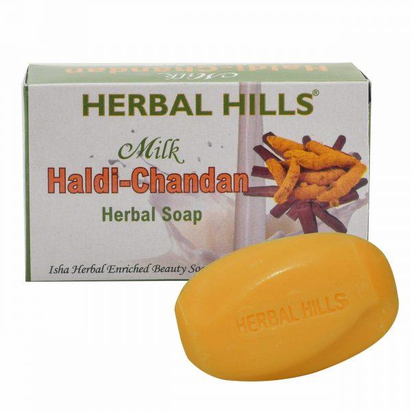 Herbal Hills Milk Haldi Chandan Soap