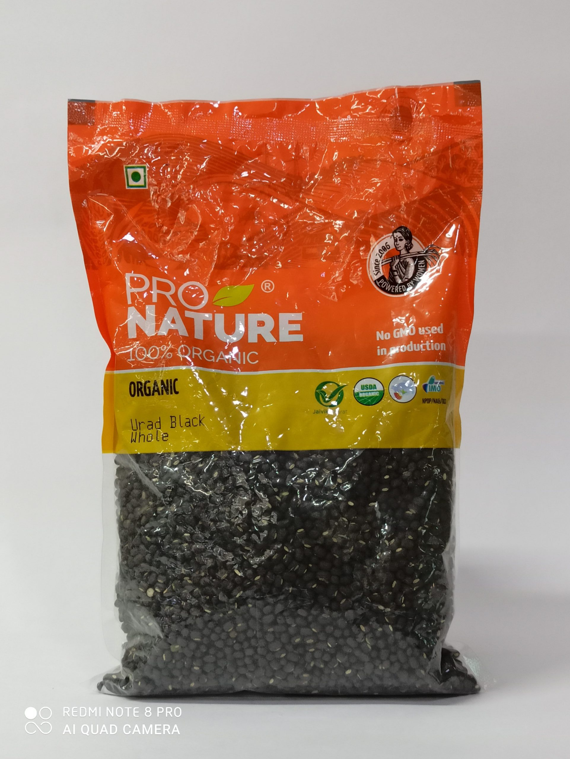 PRO NATURE URAD BLACK WHOLE 500GM
