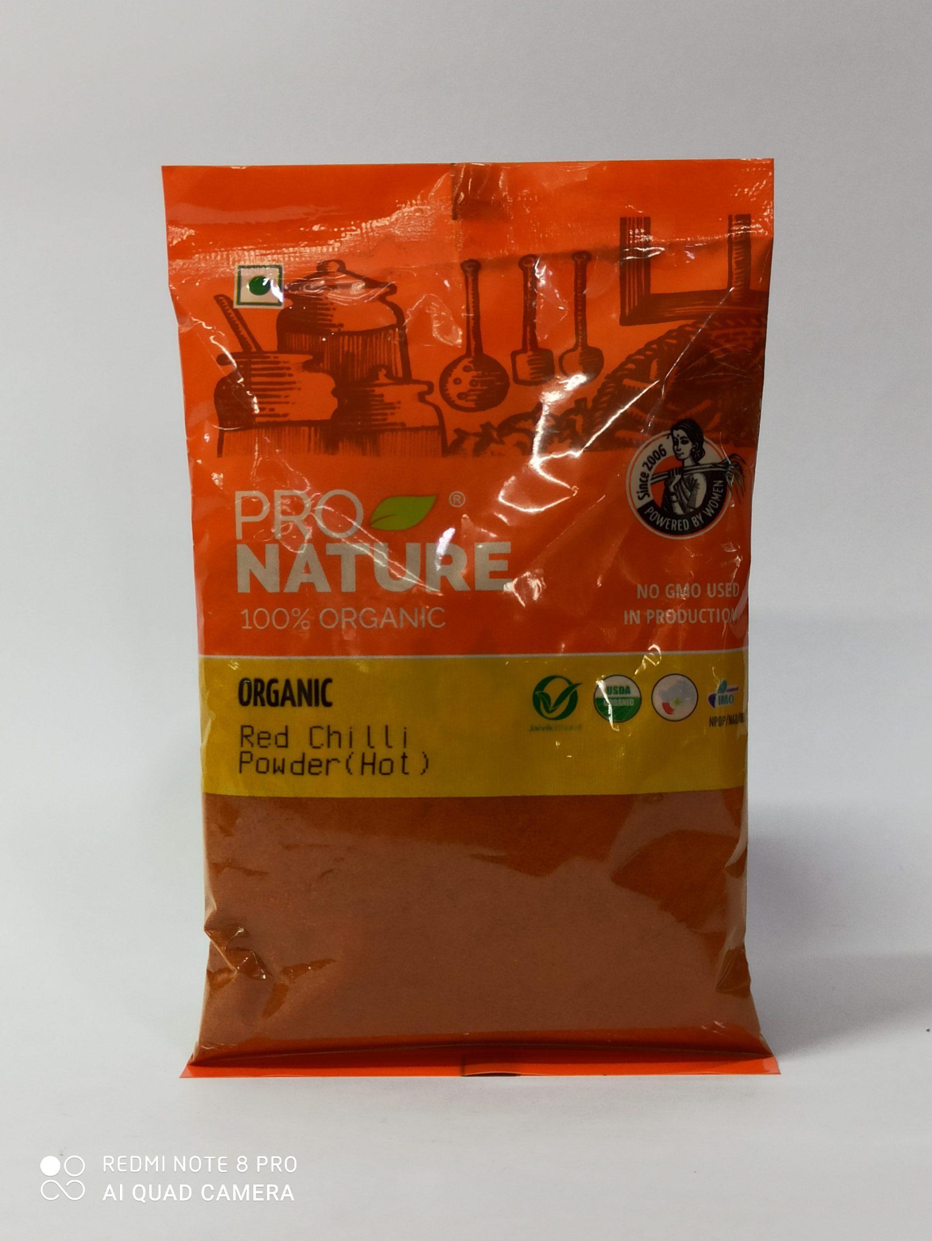 PRO NATURE RED CHILLI POWDER (HOT) 100GM