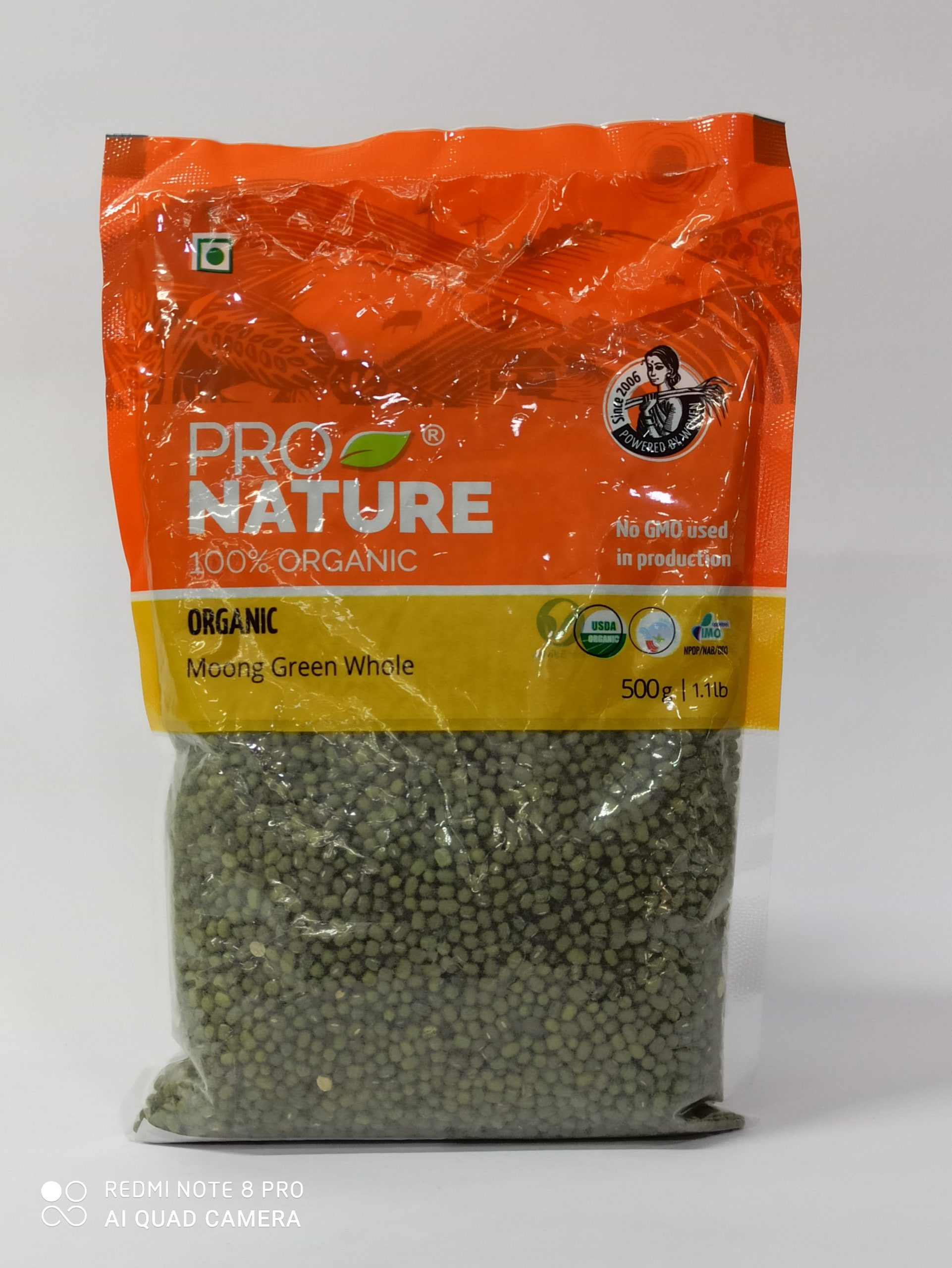 PRO NATURE MOONG GREEN WHOLE 500GM