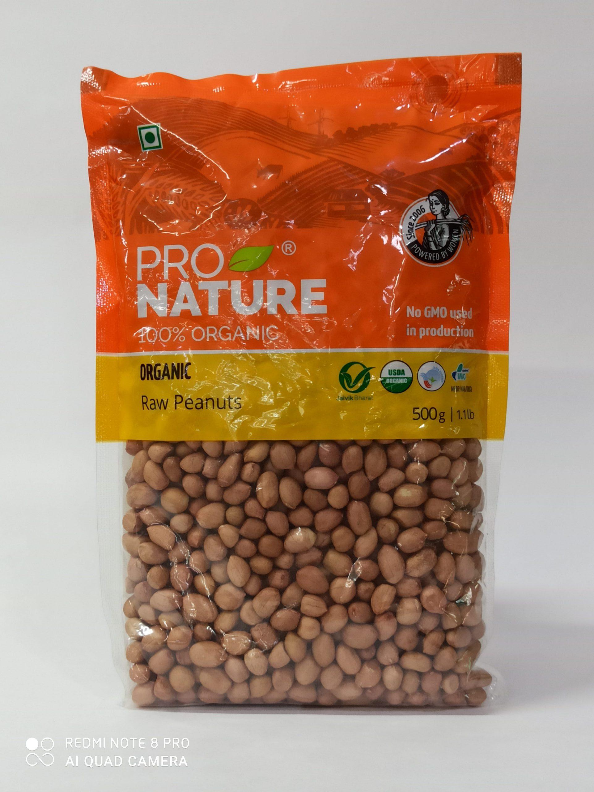 PRO NATURE RAW PEANUTS 500GM