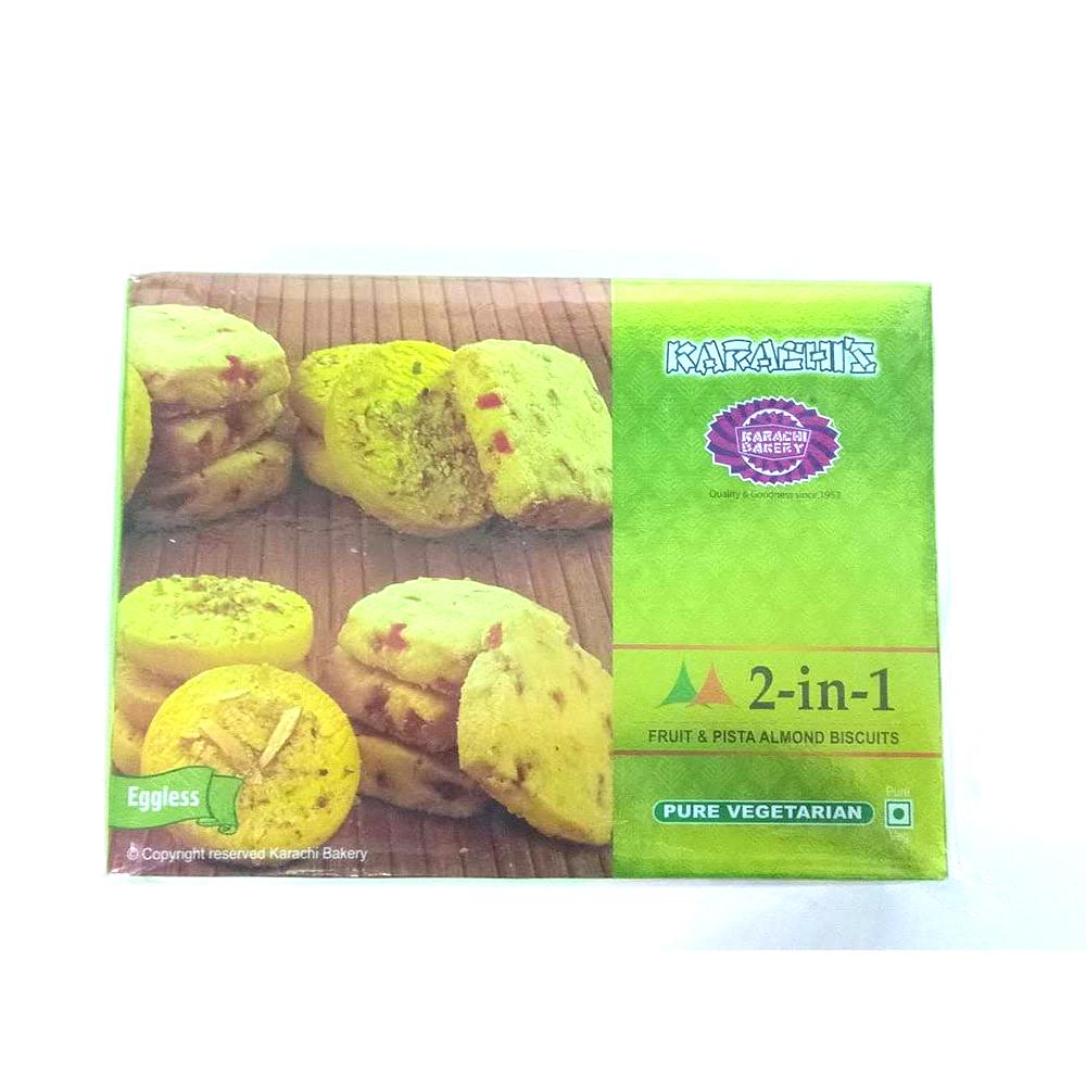 Karachi's Fruit&Pista Almond Biscuits (Eggless) - 400 grams