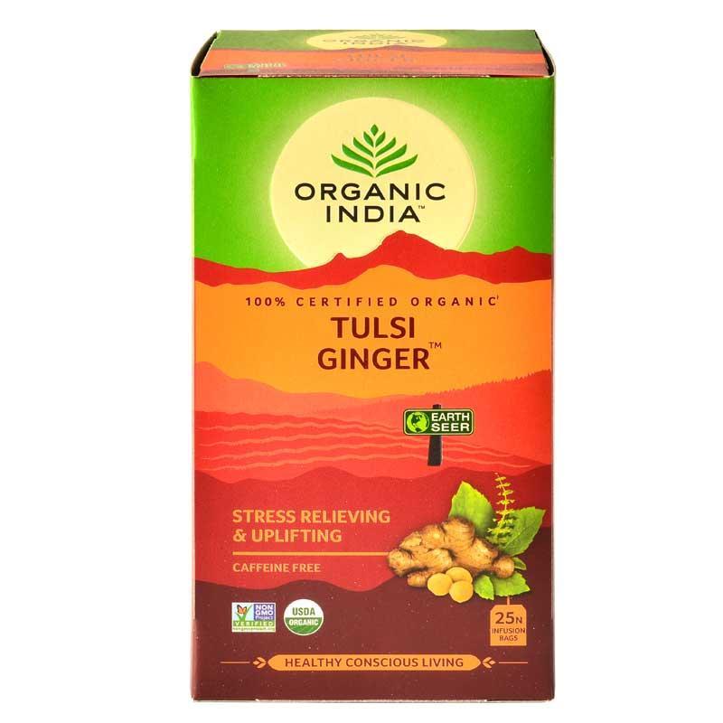 Organic India Tulsi Ginger Green Tea
