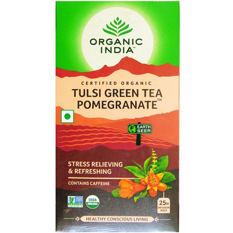 Organic India Tulsi Green Tea Pomegranate